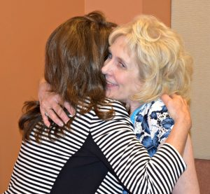 AWSA 2016 Member of Year - Cynthia Simmons getting hugged by Pam Christian